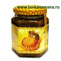 Мед с пергой, трутневым молочком и прополисом, 220 гр.