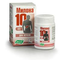 Милона-10 при заболеваниях печени 100т.