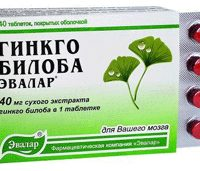 Гинкго-билоба Эвалар 40 таблеток