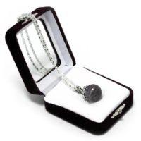 "Аромакулон ""Фантазия"" (камень – аметист) на цепочке, в подарочной упаковке, 6х5 см"