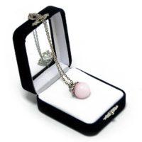"Аромакулон ""Фантазия"" (камень – розовый кварц) на цепочке, в подарочной упаковке, 6х5 см"