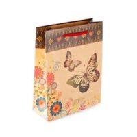 """Пакет подарочный """"Бабочки"""" 14x11x6 см"""
