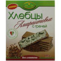 Хлебцы Амарантовые кукурузно-рисовые с гречей, 195 гр. (Di&Di)