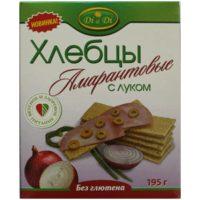 Хлебцы Амарантовые кукурузно-рисовые с луком, 195 гр. (Di&Di)