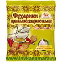 Сухарики цельнозерновые пшеничные с чесноком и укропом, 150 гр. (Дивинка)